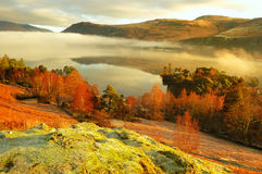 Misty Derwent water Stock Photo