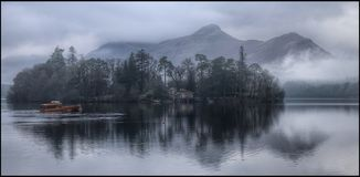 A misty Derwent Water and Catbells