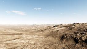 Misty Desert Daytime Stock Images