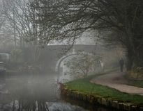 Misty early morning walk royalty free stock photography