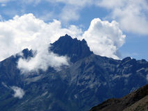 Misty Edged Mountain in Annapurna Himalayas during Monsoon Royalty Free Stock Image