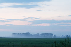 Misty evening landsacpe Royalty Free Stock Images