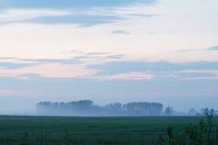Misty evening landsacpe. In Eastern Ukraine Royalty Free Stock Images