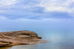Misty Evening at Miners Beach Royalty Free Stock Photography