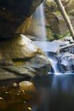 Misty fall. Angel Falls near Cumberland Gap in Kentucky Stock Image