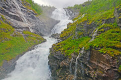 Misty falls in the Mountains Stock Photos