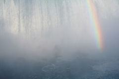 Misty Falls Rainbow Royalty Free Stock Images