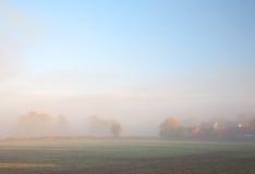 Misty farmland Royalty Free Stock Photography