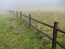 Misty fence Royalty Free Stock Image