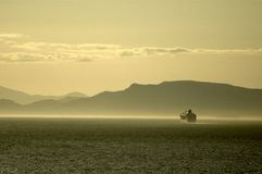 misty fiordu rejsu statku, Obraz Royalty Free