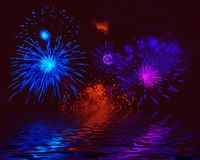 Misty firework. Illustration Stock Photography