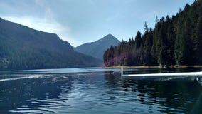 Misty Fjords dans Ketchikan Alaska Tongass Forest Mountaind national et forêt se reflétant dans le lac immobile de sommet de mont image libre de droits