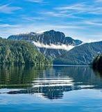 Misty Fjords en la reflexión Imagen de archivo libre de regalías