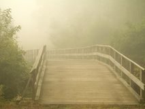Misty Footbridge Royalty Free Stock Photo