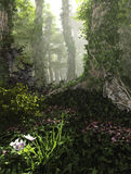 Misty Forest, 3d Computer Graphics Royalty Free Stock Photography