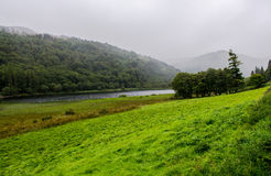 Misty Glendalough Lake in Ireland Royalty Free Stock Photo