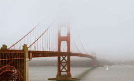 Misty Golden Gate Royalty Free Stock Photo