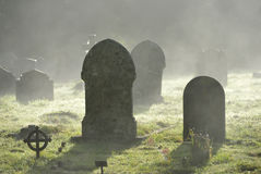 Misty graves Royalty Free Stock Photography