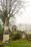 Misty graveyard Royalty Free Stock Image