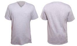 Misty Grey V-Neck shirt design template Stock Images