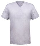 Misty Grey V-Neck shirt design template Stock Photography