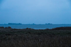 Misty Groyne landskap Fotografering för Bildbyråer