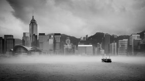Misty Harbor - Victoria Harbor, Hong Kong Photo libre de droits