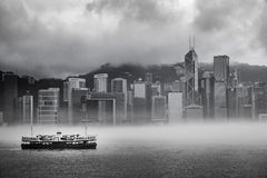 Misty Harbor - Victoria Harbor of Hong Kong Royalty Free Stock Images