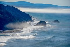 Misty Headlands foto de stock royalty free