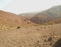 Misty High Atlas Mountains photo libre de droits