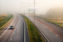 Misty highway Royalty Free Stock Image