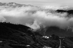 Misty hills at Borneo, Sabah, Malaysia Stock Image