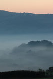 Misty Hills At Dawn Photographie stock libre de droits