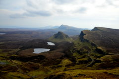 Misty hills of Scotland. Misty hills of Quiraing, Isle of Skye, Scotland Royalty Free Stock Photo