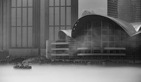 Misty Hong Kong Cityscape 2016 Royalty-vrije Stock Foto