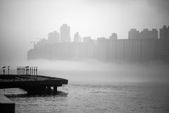 Misty Hong Kong Cityscape 2016 Immagine Stock