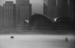 Misty Hong Kong Cityscape 2016 Royalty-vrije Stock Fotografie