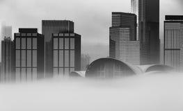 Misty Hong Kong Cityscape 2016 Stock Foto's