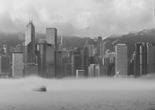 Misty Hong Kong Cityscape 2016 Stock Photography