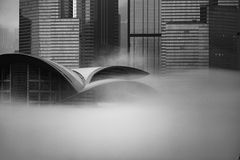 Misty Hong Kong Cityscape 2016 Royalty Free Stock Image