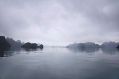 Misty Horizon, Halong Bay, Vietnam Stock Images