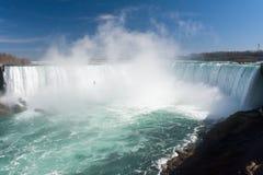 Misty Horseshoe Falls stock photo