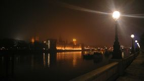 Misty houses of parliament Royalty Free Stock Image