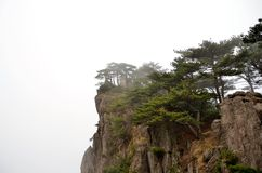 Misty Huangshan Mountains Stock Afbeeldingen