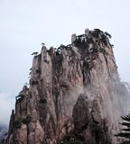 Misty Huangshan Mountains Stock Afbeelding