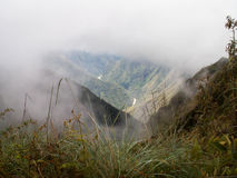 Misty Incan River Valley Royalty Free Stock Image