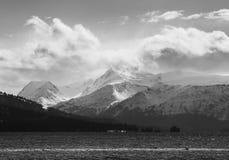 Misty Kenai Mountains arkivbild