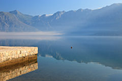 Misty Kotor Bay Royalty Free Stock Photos