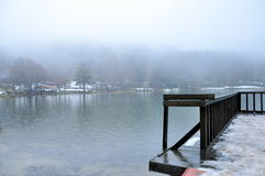 Misty lake Stock Image