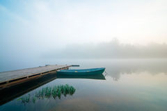 Misty lake Royalty Free Stock Images